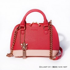 """Cardcaptor Sakura: Clear Card Arc"" Kinomoto Sakura Model 2WAY Hand Bag Pastel Red"