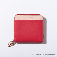"""Cardcaptor Sakura: Clear Card Arc"" Kinomoto Sakura Model Bicolor Half Wallet Pastel Red"