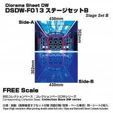 Diorama Sheet DW F013 Stage Set B