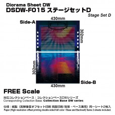 Diorama Sheet DW F015 Stage Set D