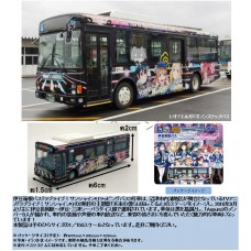 The Bus Collection Izuhakone Bus Love Live! Sunshine!! Wrapping Bus #3 Car